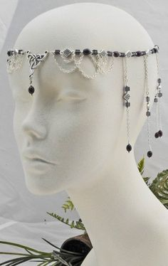 CELTIC oak Purple Pearl CIRCLET renaissance medieval diadem crown by @DawnHillDesigns - #Wedding on #ArtFire