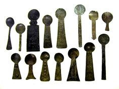 ghana brass gold dust spoons too