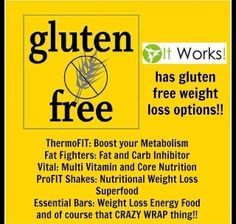 Gluten free IT WORKS PRODUCTS