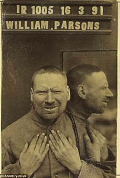 Victorian villains: William Parsons 48 shown posing for a mugshot in March 1891 was put behind bars for 20 years for arson Old Pictures, Old Photos, Vintage Photographs, Vintage Photos, Selfies, Vintage Magazine, Vintage Photo Booths, The Donkey, History Photos