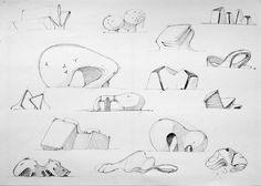 Sketches architectural by Mihail Ivantsov, via Behance