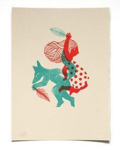 Иллюстрации французской художницы Evelyne Mary. #Linocut