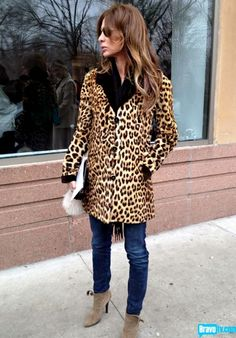 How much do you love Carole Radziwill's vintage fur jacket?