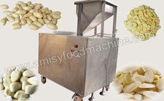 Link: http://amisyfoodmachine.com/product/nuts-processing/almond-peanut-slicing-machine.html Peanut & Almond Kernel Slicing Machine For Sale The peanut & almond kernel slicing machine is specially designed to slice peanut & almond kernels and other nut kernels fast and easy without damage. E-mail: info@amisyfoodmachine.com