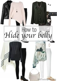 10 sure fire ways to hide your belly with the right clothes | including loose layered tops, long cardies and long sleeveless coats 40plusstyle.com