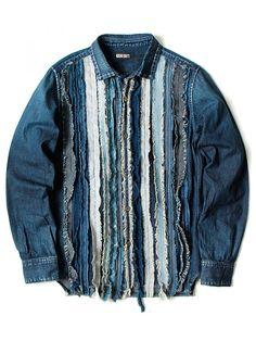 KAPITAL - Scrap-Assemblage Denim Shirt - K1511LS241 PRO - H. Lorenzo
