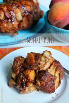 Peach Monkey Buns - A Sweet Baker