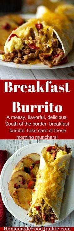 Breakfast Burrito filling, good food! by HomemadeFoodJunkie.com