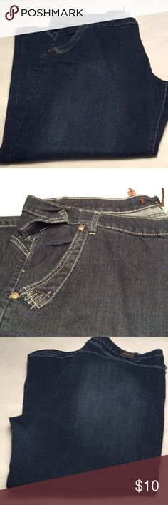 Dark blue jeans Dark blue jeans. Front pockets. No back pockets. Plus size 24. Inseam 31 inches. Jeans Straight Leg