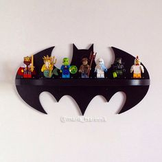 "Wooden shelf ""Batman"" by Purplepollen on Etsy https://www.etsy.com/listing/237372542/wooden-shelf-batman"