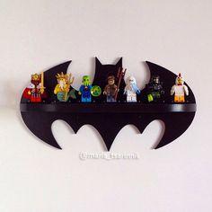 Wooden shelf Batman superhero logo home decor batman arkham knight batman vs superman lego shelf comics kids decor gift for men Lego Shelves, Wooden Shelves, Lego Regal, Deco Lego, Superhero Room, Batman Superhero, Batman Vs, Batman Comics, Batman Boys Room