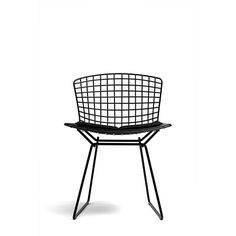 The Bertoia side chair is a mid-century modern classic. It comes with or without a seat pad, from Aram