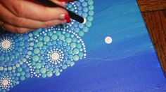 How to paint dot mandalas #30- The Mermaid