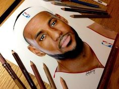 Life Like Drawing Of LeBron James By Heather Rooney - #amazing #LeBronJames #drawing