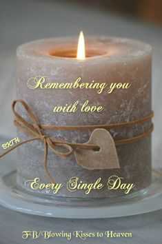 Keeping a candle lit in memory of my Angel in Heaven... Missing you mom!!! :(
