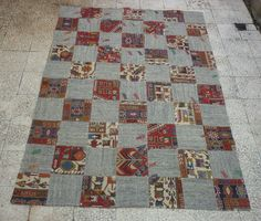 PATCHWORK Kilim RugHandmade from OldVintage by pillowsstore, $436.00
