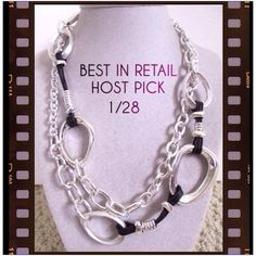 """ROBERT LEE MORRIS  LONG LINK NECKLACE New with tags. Robert Lee Morris Soho Silver Plated Large Link Chain Long Necklace. Necklace has silvertone chain with large silvertone links and leather cords. Tag reads """"Genuine Silver Plated"""". Measures at 40"""" long. Robert Lee Morris Jewelry Necklaces"""