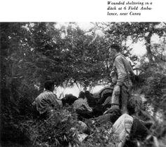 black and white photograph of wounded soldier