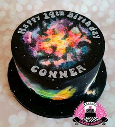 Galaxy  - Cake by Cakes ROCK!!!  Http://cakes rock.rocks