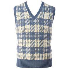 For Sale on - Bill Blass Blue & Cream Plaid Sweater Vest. Cream Vests, Blue Vests, White Vests, Plaid Vest, Sweater Vests, Bill Blass, White Sweaters, Blue Cream, Tartan