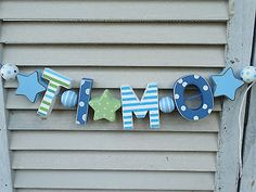 Shabby Chic Kinderzimmer lucas wooden letters baby name shower nursery decor personalized