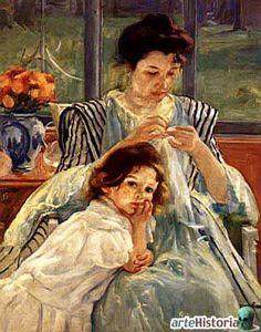 mary cassatt  madre cosiendo  1902