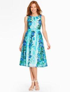 Talbots: Floral Stripe Dress