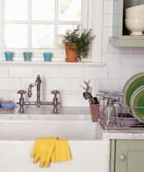 How to speed clean your kitchen! I love this article.