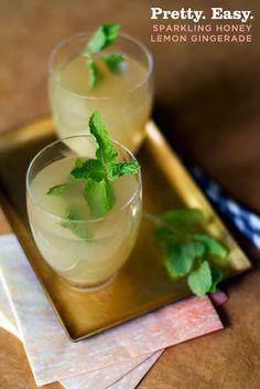 Pretty. Easy. Sparkling Honey Lemon Gingerade Recipe from www.aidamollenkamp.com