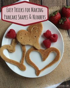 Perfect for Valentine's Day! Your kids will love these heart-shaped pancakes! It's so easy, fun and mess-free! Plus - tips for making other holiday shapes and birthday numbers, too!