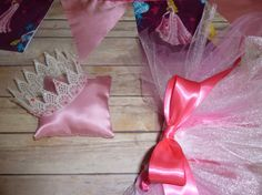 Sleeping Beauty  Pink Ruffle Bum Pant or Tutu Crown by sewsueprops, $62.00