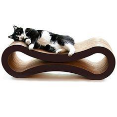 Cat Scratcher Lounge Furniture Brown Couch Bed Sleep Scratch Pet Supplies Kitten #PetFusion