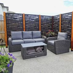 Hideaway Screens Système d'écran d'intimité branch hideaway et Commentaires | Wayfair.ca Privacy Fence Designs, Privacy Walls, Privacy Screen Outdoor, Privacy Fences, Deck Privacy Screens, Privacy Wall On Deck, Fencing, Privacy Fence Decorations, Fence Wall Design