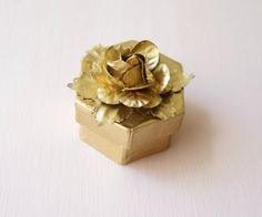 Gold ring box Ring pillow alternative Ring bearer by Lietofiore