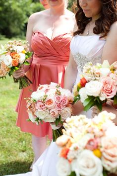 I like the bride's bouquet