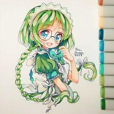 ❤️🍓I've always loved loved loved her character design😍 Dibujos Anime Chibi, Chibi Anime, Kawaii Chibi, Kawaii Art, Kawaii Anime, Copic Drawings, Kawaii Drawings, Cute Drawings, Manga Drawing