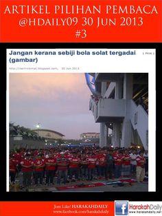 Keistimewaan Yang Ada Pada Penyokong Kelantan - Solat Beramai-Ramai Dalam Dan Luar Stadium