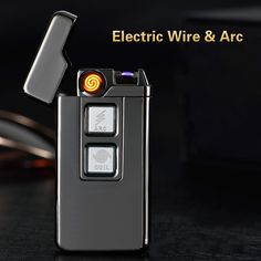 Usb Charge Tesla Coil &Arc Lighter USB Windproof Personality Electronic Cigarette Lighters Novelty Electric Cigarette Lighter