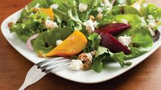 Roasted Beet Salad With Goat Cheese, from Our Ohio magazine. Roasted beets, goat cheese and salty pistachios.