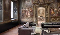 """speciesbarocus: """"Bottega Veneta's Home boutique at the Palazzo Gallarati Scotti, Milan. [x] > Frescoes by Carlo Carlone & Giovanni Battista Tiepolo. """""""