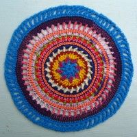 Crochet Mandala Wheel made by Nic, Wiltshire, UK, for yarndale.co.uk