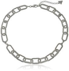 Guess Frozen Chain Silver Choker Necklace ** Click image to review more details. (This is an affiliate link) #Necklaces