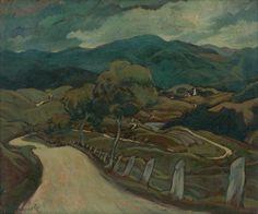 Edmund Gwerk - Hradská Art Pictures, Art Inspo, Graphics, Graphic Design, Artists, Landscape, Inspired, Nature, Painting