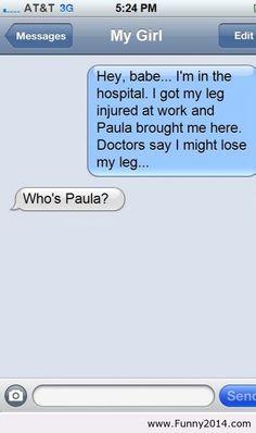 Hahaha!!!!  Seriously Who's Paula? lol