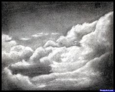 how to draw realistic clouds, draw clouds step 10