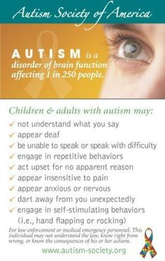 Autism is a DISORDER.