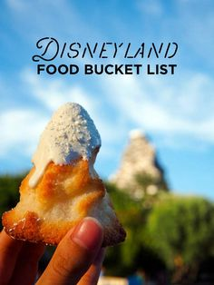 We compiled a list of the 39 of the best disneyland food to put on our disney bucket list. Here's 39 of the Best Food at Disneyland you need to try on your next visit, and we've included where to find them to help you plan the best trip! Disney California Adventure, Disneyland California, Anaheim California, California Trip, Southern California, Anaheim Hills, Disney Snacks, Disney Food, Disney Stuff