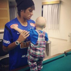 Neymar and Davi Lucca