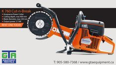 Cutting solid materials like a brick, stone or concrete can be a demanding task. Rely on a Husqvarna Power Cutter to get the job done! #concrete #oakville #equipmentrental Concrete Saw, Get The Job, Gta, Outdoor Power Equipment, Brick, Construction, Stone, Building, Rock