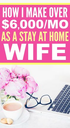 How she made over $6,000 a month from home as a stay  at home wife is SO COOL! I'm so glad I found these AWESOME tips! Now I have some real ways to make money from home! Definitely pinning!
